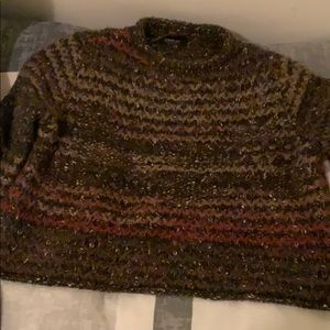Multi colored sweater crop top